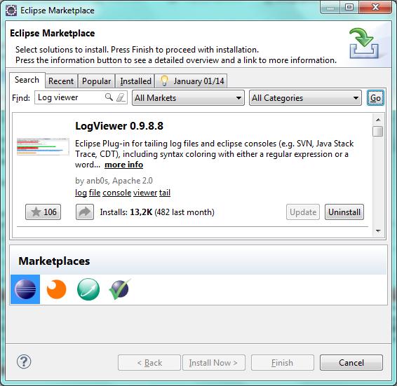eclipse install plugin ajouter manuellement