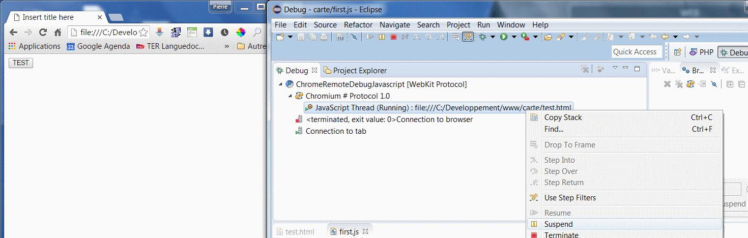 Javascript Debug avec Eclipse Mars | Pierre Jean – Ingénieur